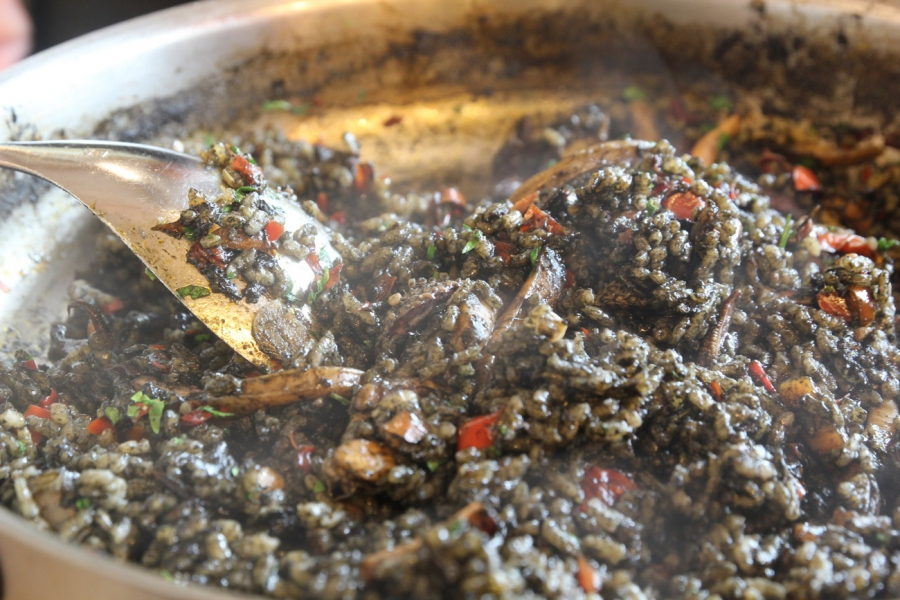 Bomba Rice w. Cuttlefish, Octopus and Squid Ink served with Alioli $63