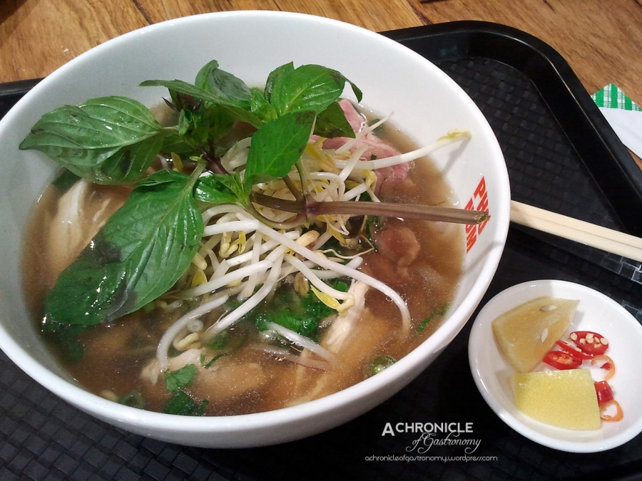Beef and Chicken Pho ($12)