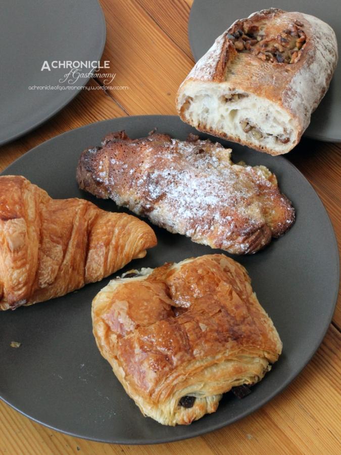 Croissant au Beurre, Almond Croissant, Pain aux Chocolat, Pain au Noix