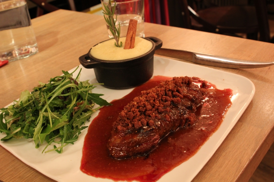 Duck Magret w. Fig Sauce and Foie Gras Mashed Potatoes