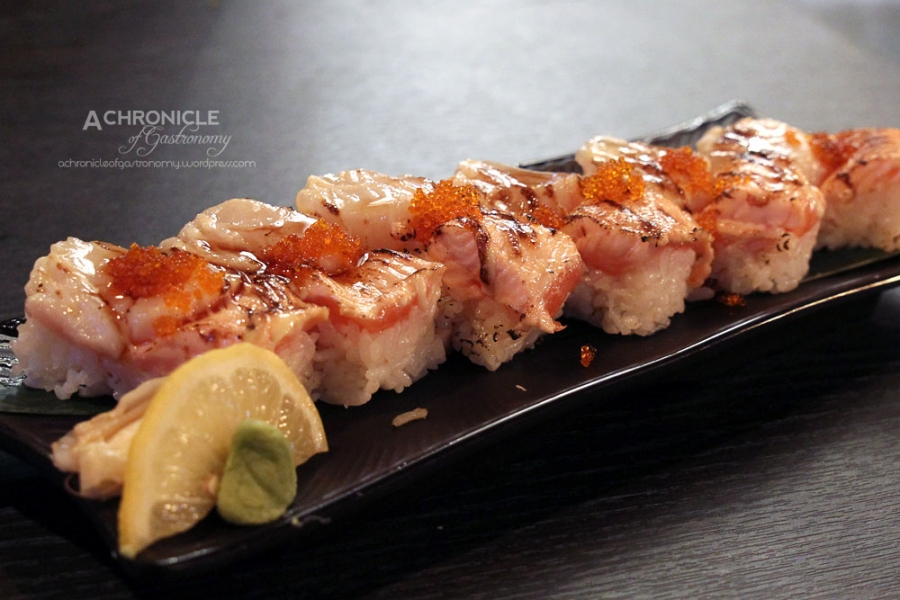 Seared Salmon & Scallop Box Sushi