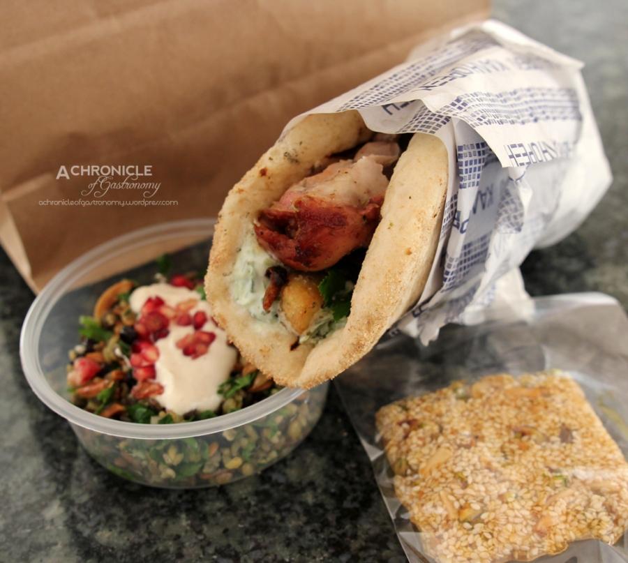 $12 Takeaway Lunch - Chicken Souvlaki, Grain Salad, Pasteli