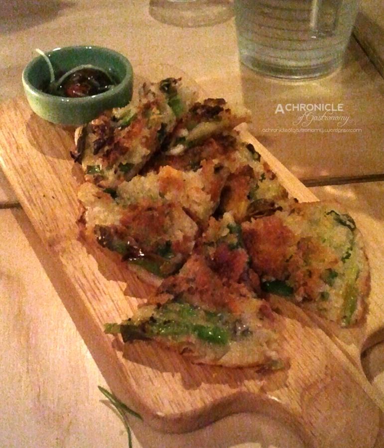 Crumbed Seafood Pancake - Spring Onion, Seafood, Bread Crumb