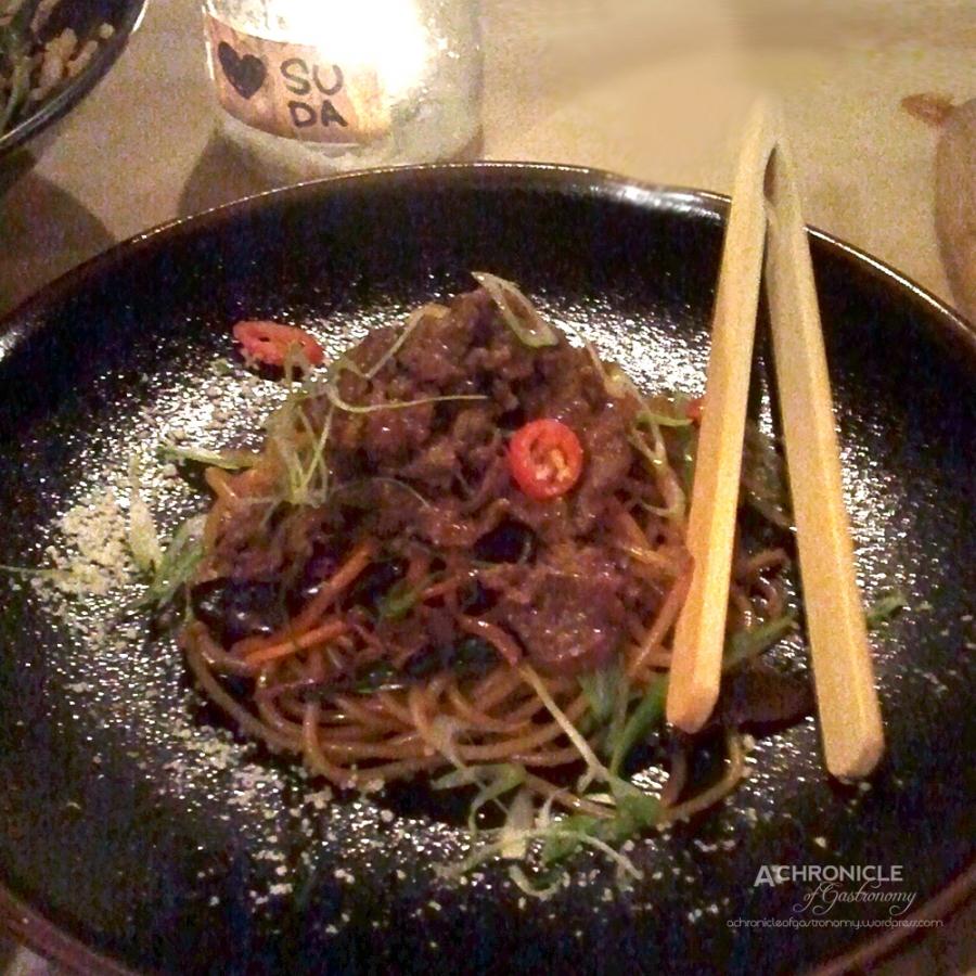 Bulgogi Pasta w. Shitake Mushrooms, Shredded Egg