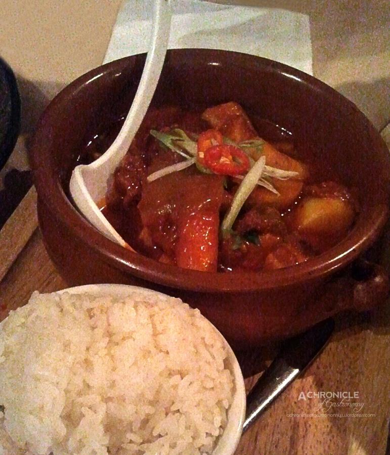 Kimchi Pork Belly Stew w. Potato, Tteok