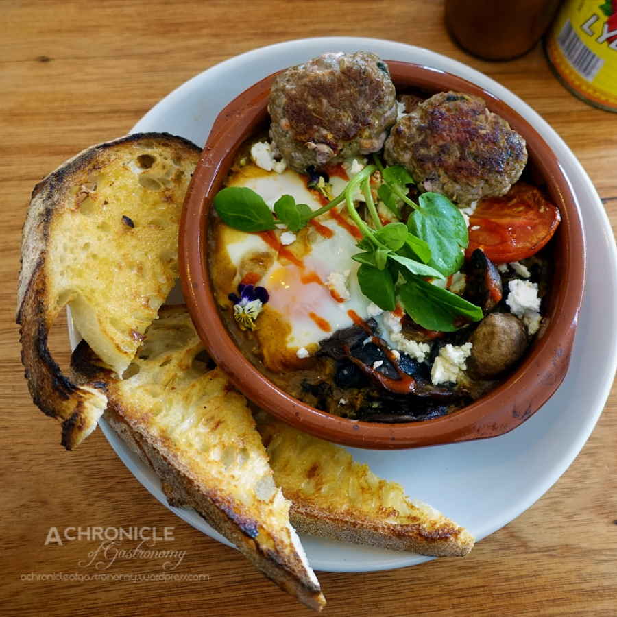 Sausage, Mushrooms, And Feta Baked With Eggs Recipe — Dishmaps