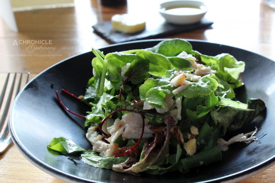 Smoked Chicken Salad, Hazelnut Dressing