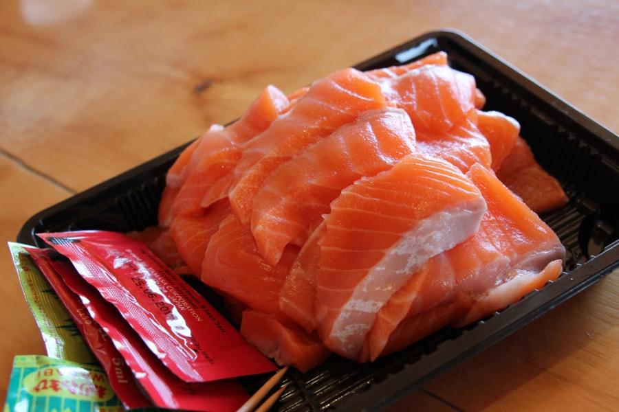 Sashimi (250g, $20)