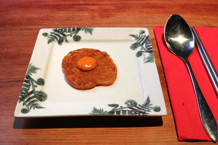 Kimchi Pancake (Kimchijeon) w. Chili Mayo