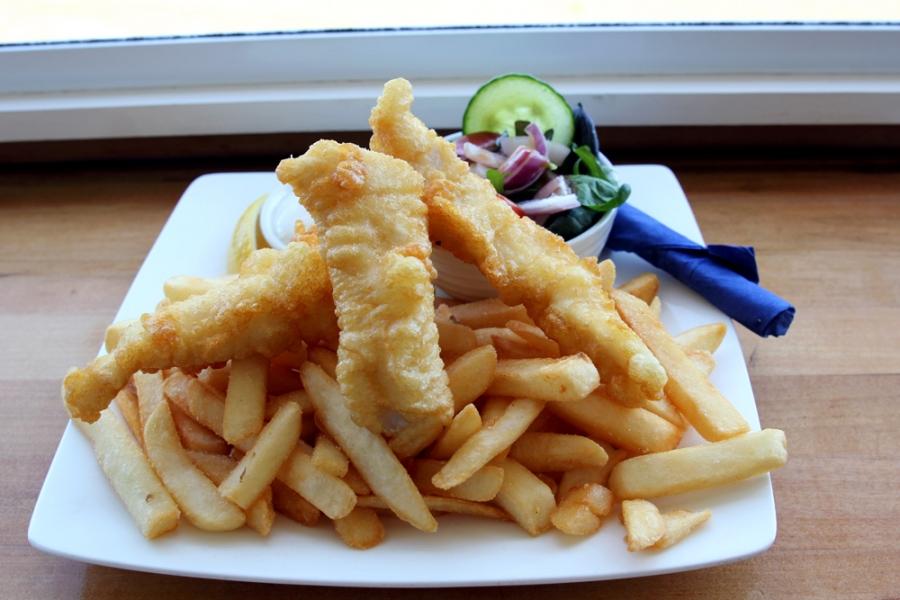 Fish and Chips - Gunard, Salad, Tartare ($25)