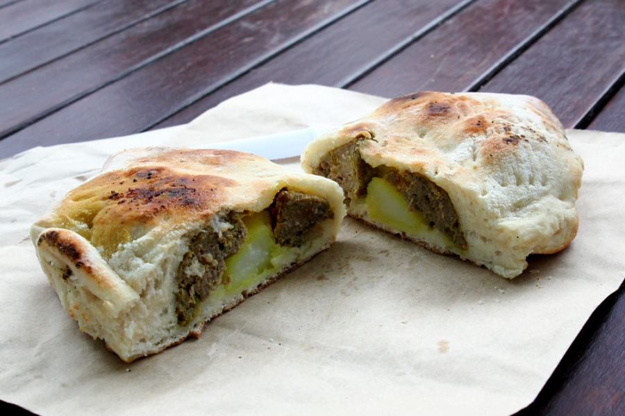 Abu-Melamed's Pita - Moroccan Meatball And Potato Pide ($8)