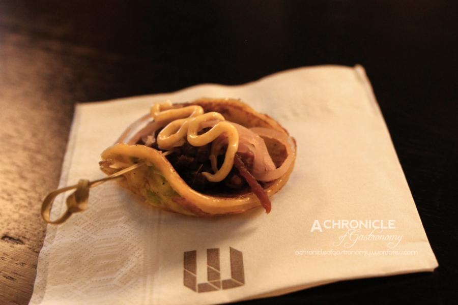 Sticky Pork Pancake, Sweet Pickle, Togarashi Mayonnaiseedit