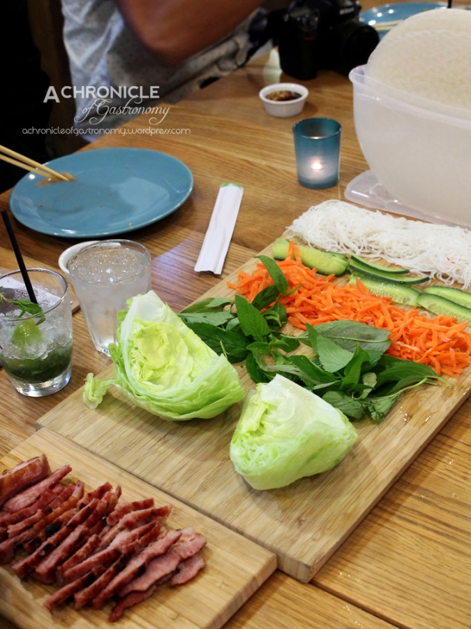 Twice-cooked Lemongrass Pork Rice Paper Rolls