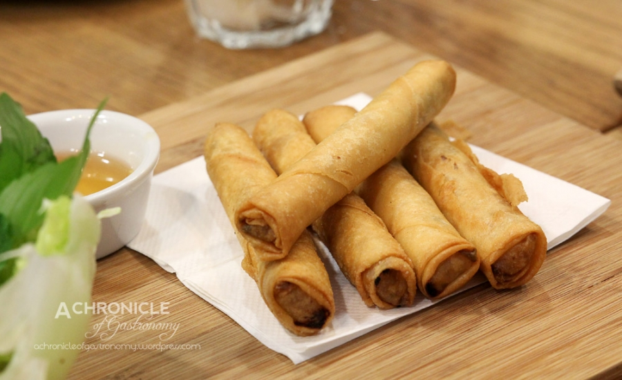 Pork and Taro Spring Rolls
