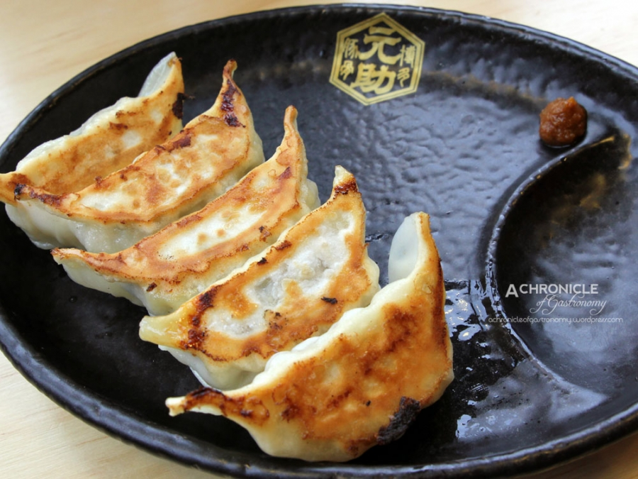 Hitokuchi Bite-Sized Gyoza w. Citrus Pepper, 5 Pieces for $5