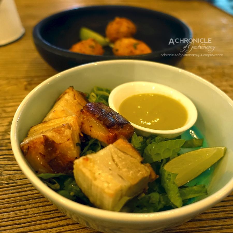 Chicharron - Slow Roasted Pork Belly, Lime, Salsa Verde $8