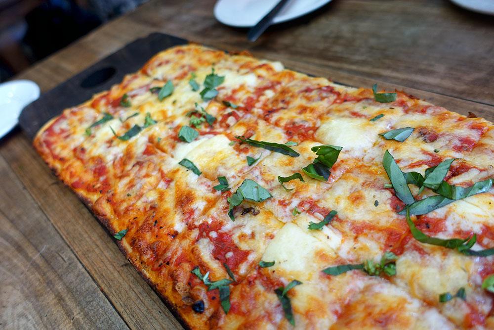 T'Gallant Spuntino Bar - Margherita Pizza $32 - Tomato Sugo, Mozarella, Basil