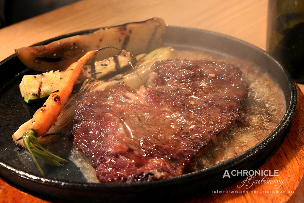 Premium Angus Scotch Fillet With Various Roasted Seasonal Vegetable ($29)