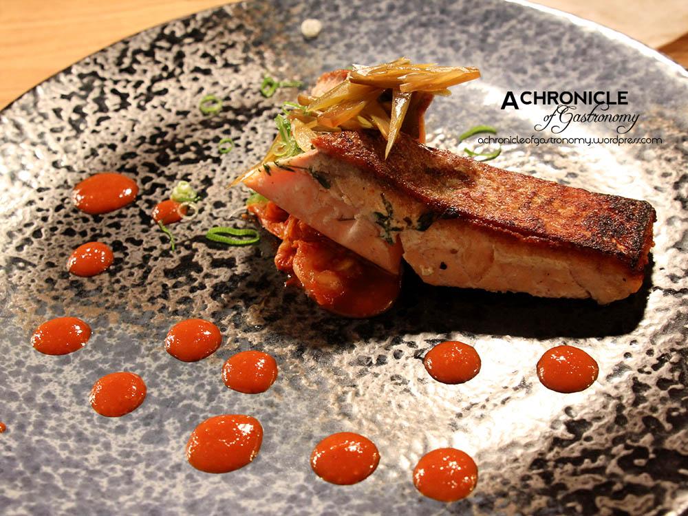 Sous Vide Salmon Fillet With Sautéed Kimchi ($28)