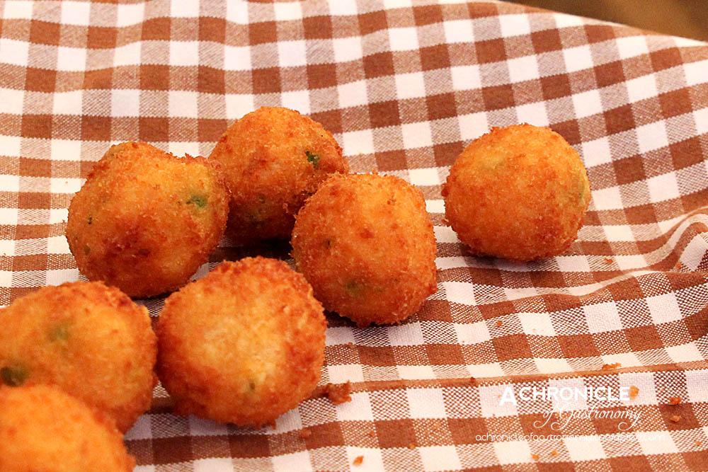 'Sharing Puglia' Book Launch (1) Arancini w. Peas and Cheese