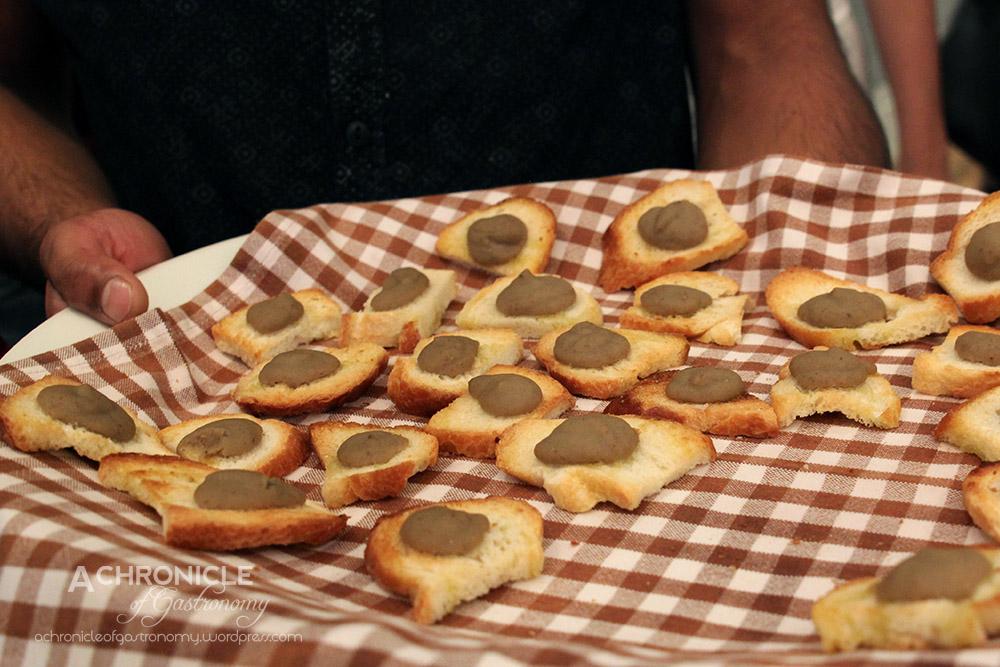 'Sharing Puglia' Book Launch (6) Fava Bean Puree on Crostini