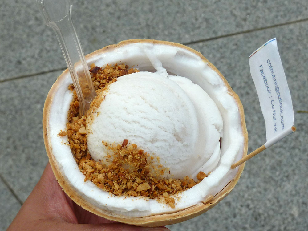 Co Nut Ink - Coconut Ice Cream Topped w. Peanuts, 5SGD
