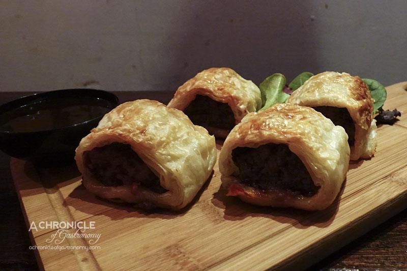Highlander Bar - Scottish Rolls - Pork and Black Pudding Sausage Rolls with House BBQ Sauce ($12)