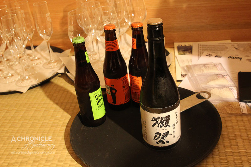 Kumo Izakaya and Sake Bar - Dassai 23, Barrow Boys Beer