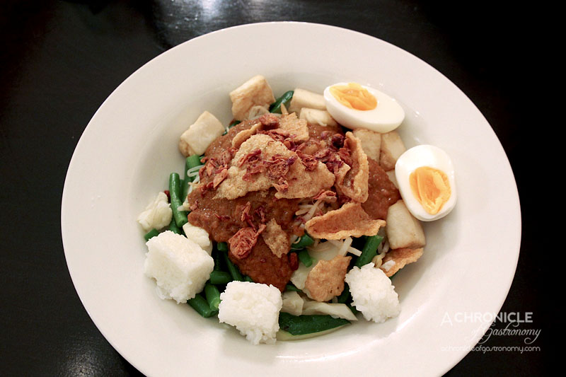 Masak Ku - Gado Gado - Lightly Blanched Vegetables, Fried Tofu, Soft-boiled Egg, House-made Satay Sauce ($14)