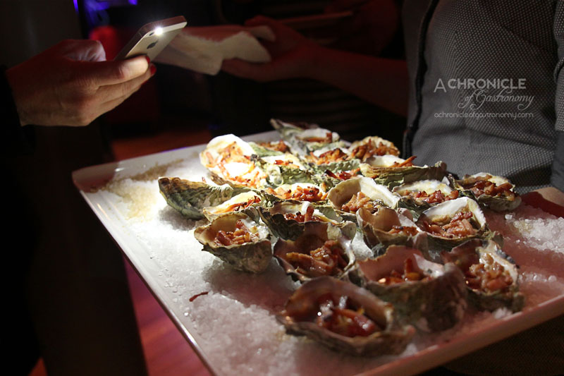 Rubira's Oyster Night - Oysters Kilpatrick