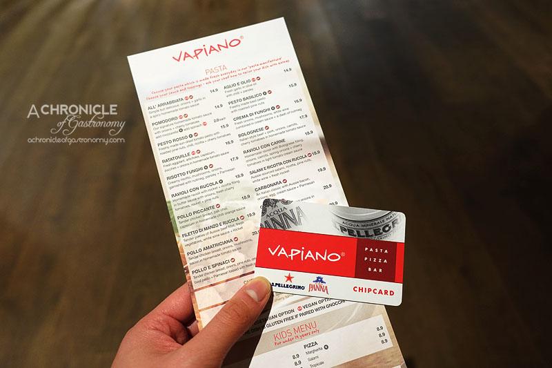 Vapiano Swipe Card