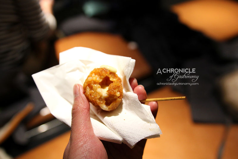 Waterslide Bar Launch - Arancini filled with Italian Tallegio and Garlic Aioli