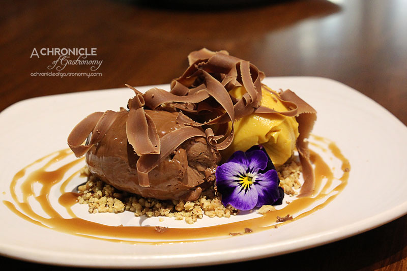 Araliya - Milk Chocolate Mousse, Sweet Potato Custard, Salted Caramel, Hazelnut Crumble ($15)