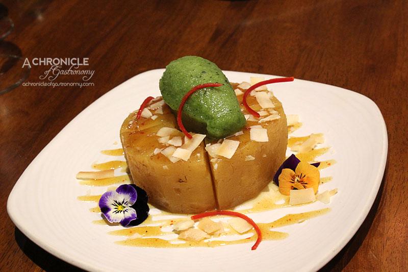 Araliya - Chilli and Ginger, Roasted Pineapple, Basil Sorbet