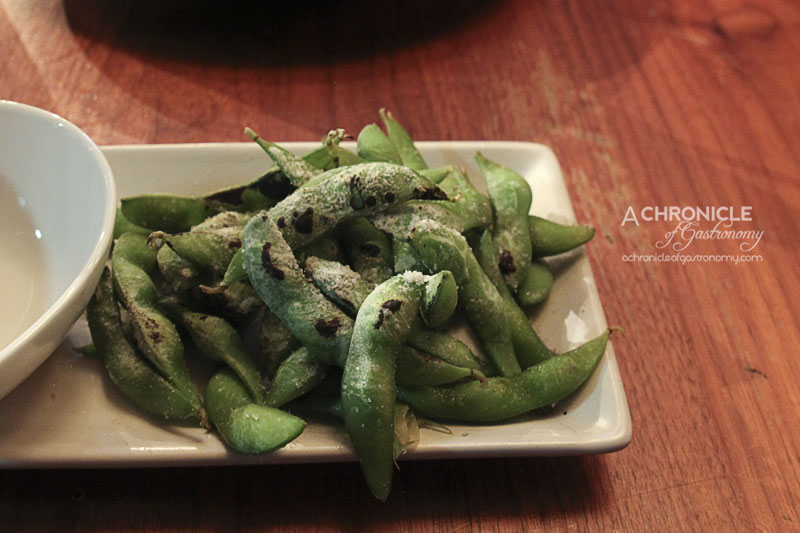 Half Serve Grilled Salted Edamame ($5)