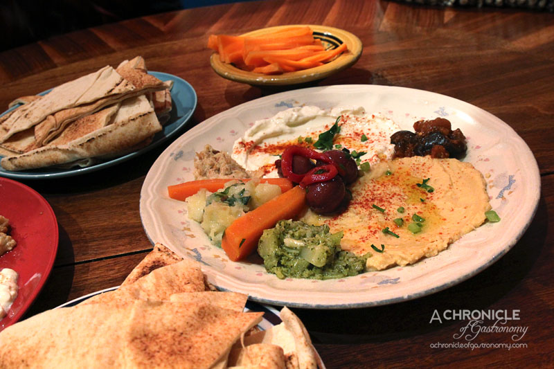 Moroccan Soup Bar - Dips - Hummous, Yoghurt, Broccoli, Potato, Olives, Eggplant