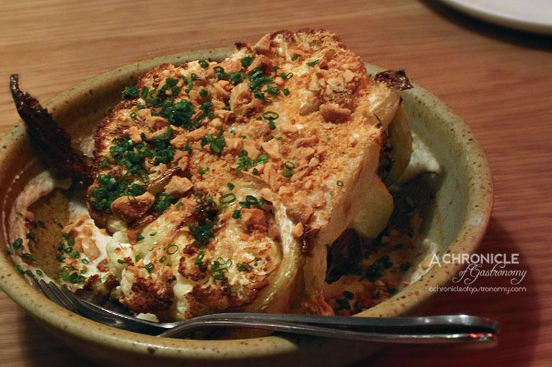 The Town Mouse - Roast Cauliflower, Almond & Broad Bean Miso ($12)