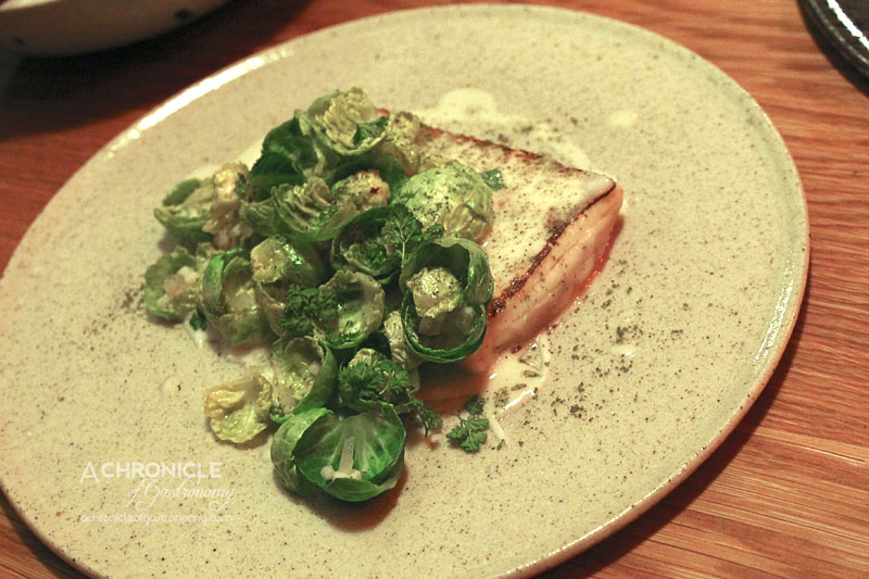 The Town Mouse - Albacore, Rosemary, Baby Brussels Sprouts, Mussel & Fennel ($21)