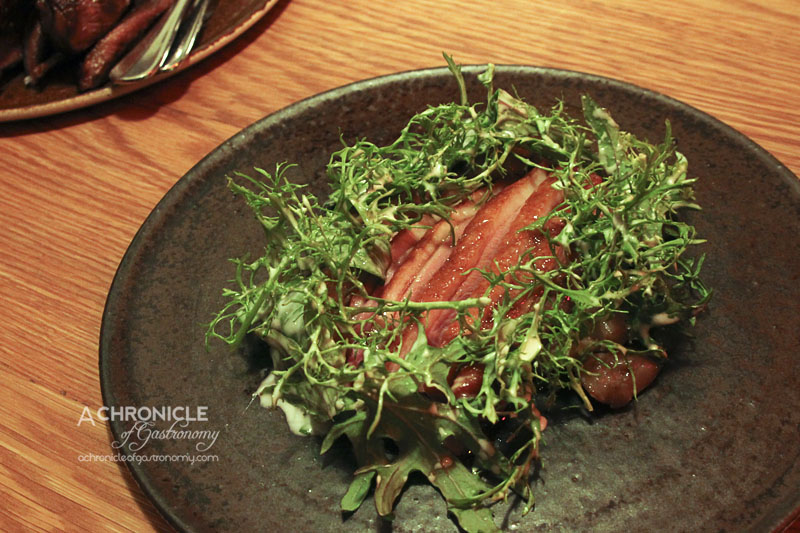 The Town Mouse - Duck Breast, Jerusalem Artichoke, Porcini, Horseradish & Winter Leaves ($35)