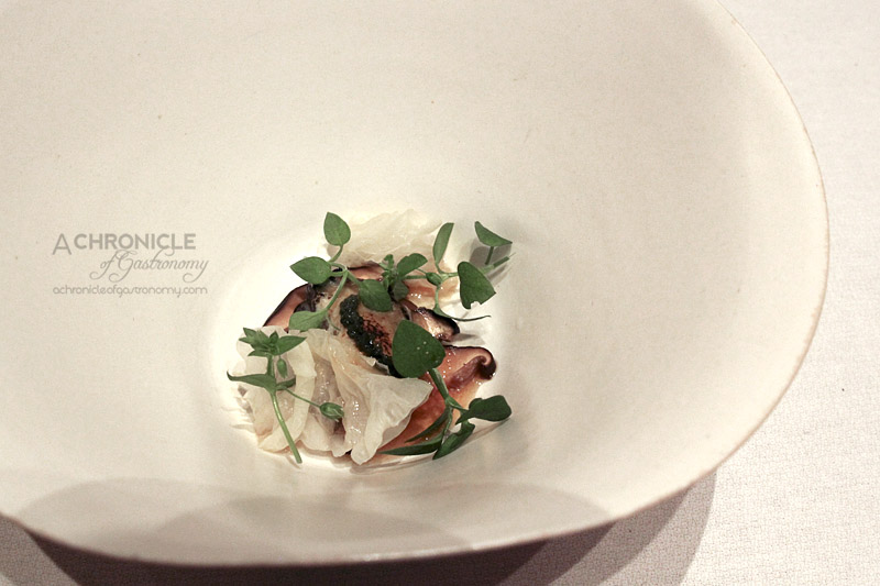Woodland House - Pacific Oyster, White Soy, Shiitake, Sea Grapes