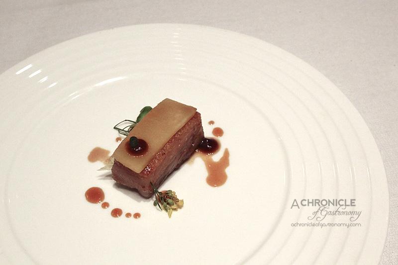Woodland House - Pork Cheek, Salt-Baked Swede, Wattleseed, Sancho Berry