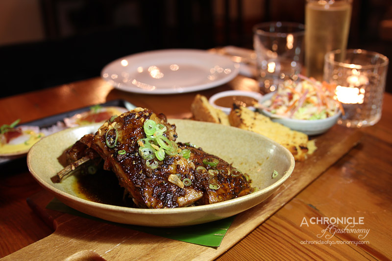 The Post - Southern Style Lamb Ribs with Corn Bread, Coleslaw and Chilli Sauce ($16)