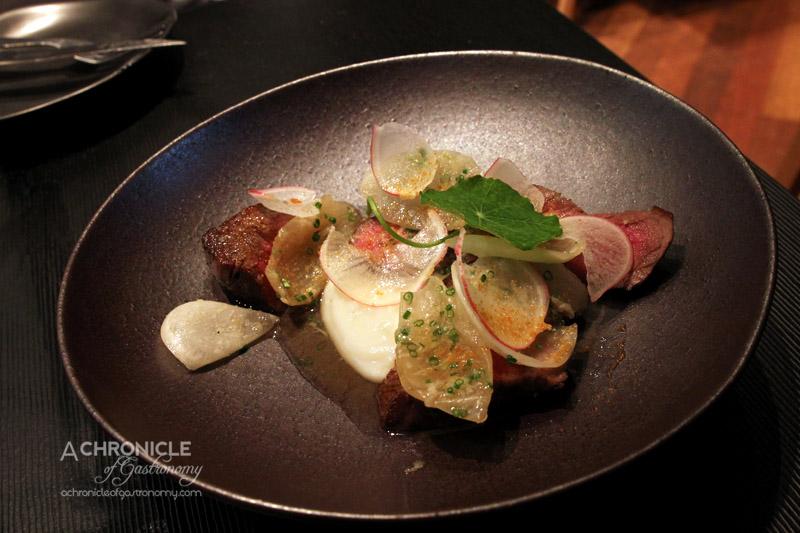 The Roving Marrow - Cape Grim Beef, Sweet Onion, Turnip and Radish ($17)