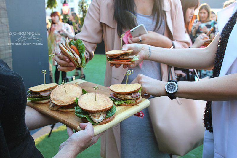 Grill'd and Lola Berry at St Jerome's - The Hotel - 'Simon Says' Slider - Grilled Chicken Breast, Avocado, Crispy Trim Bacon, Salad, Relish & Herbed Mayo