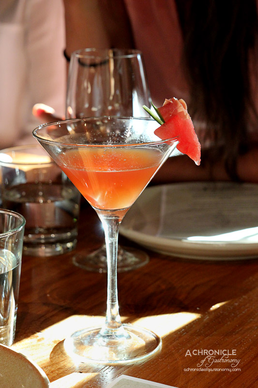 Hunter & Barrel - The Chieftain - Rosemary Fat-washed Belvedere Vodka, Fresh Watermelon