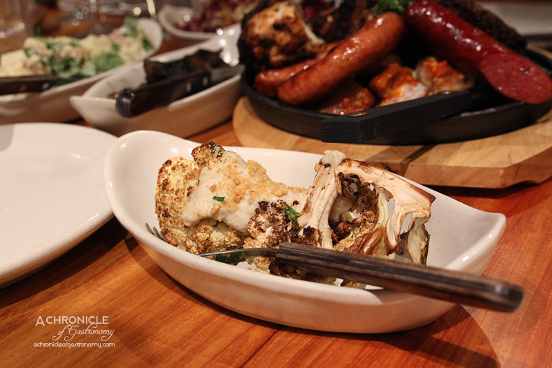 Hunter & Barrel Launch - Grilled Cauliflower with Garlic Sauce & Toasted Almonds