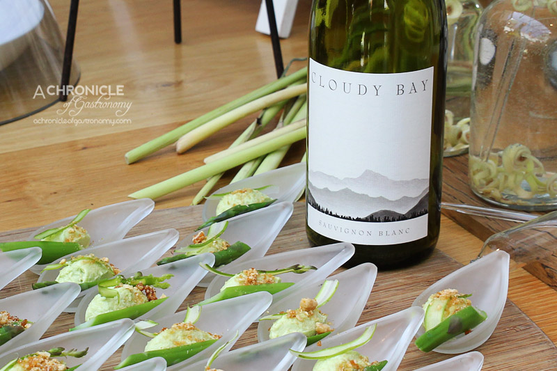 Cloudy Bay Sauvignon Blanc Spring Launch 2015 at The Botanical - Asparagus Cream with Sugared Nuts
