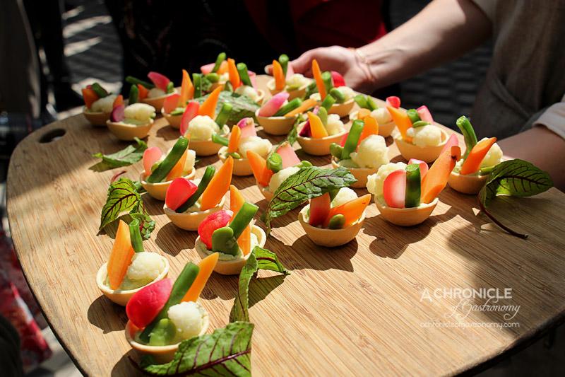 Cloudy Bay Sauvignon Blanc Spring Launch 2015 at The Botanical - Vegetarian Tart with Asparagus Cream