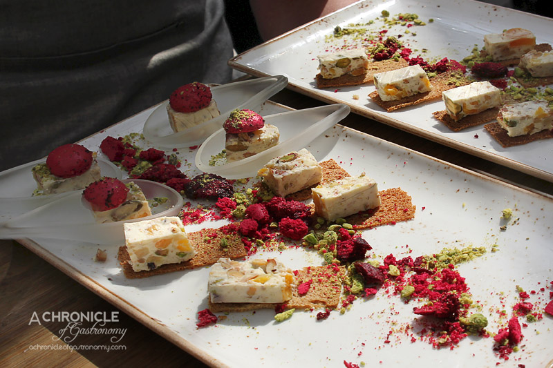 Cloudy Bay Sauvignon Blanc Spring Launch 2015 at The Botanical - Goats Cheese Nougat with Rye Bread