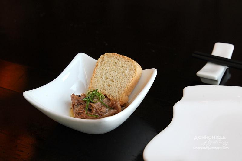 Miyako - Yuzu Marinated Beef with Toast